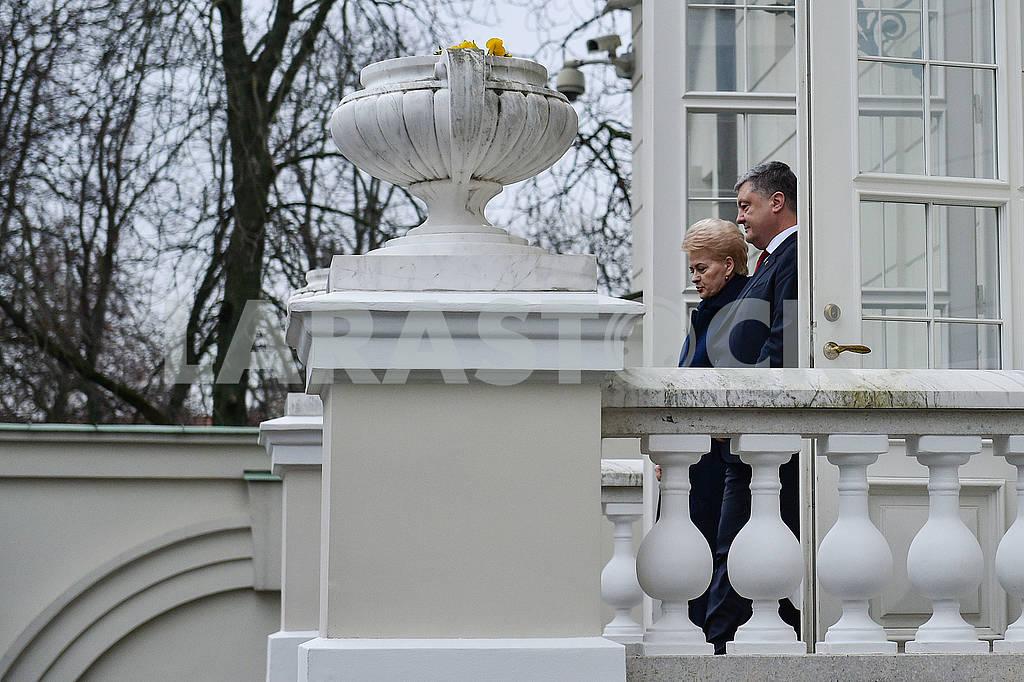 Dalia Grybauskaite and Petro Poroshenko — Image 66271