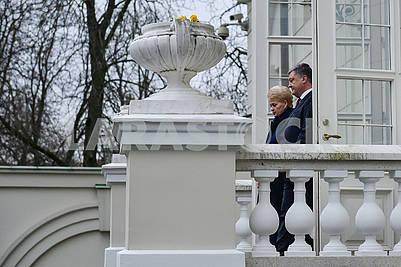 Dalia Grybauskaite and Petro Poroshenko