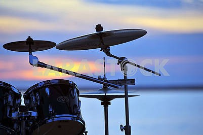 drums at sunset