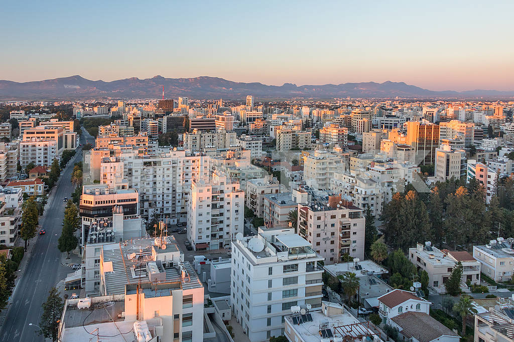 Houses in Nicosia in the evening — Image 66419