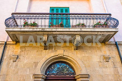 Balcony on the old house