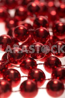 red beads closeup