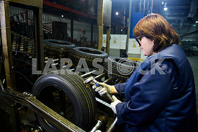 Production of tires in the shop
