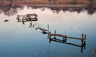 broken fishing bridge