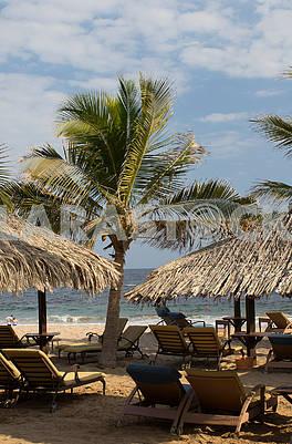 Beach near the hotel Le Meridien