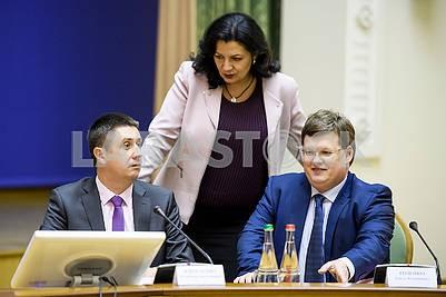 Vyacheslav Kirilenko, Ivanna Klimpush-Tsitsnadze, Pavel Rozenko