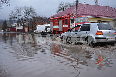 Flooding in Uzhhorod