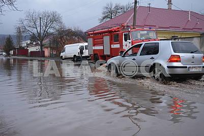 Flooding in Uzhhorod
