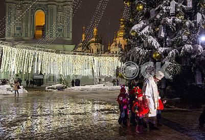 Saint Nicholas with children