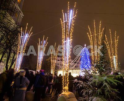 Christmas tree on Sofia's Square