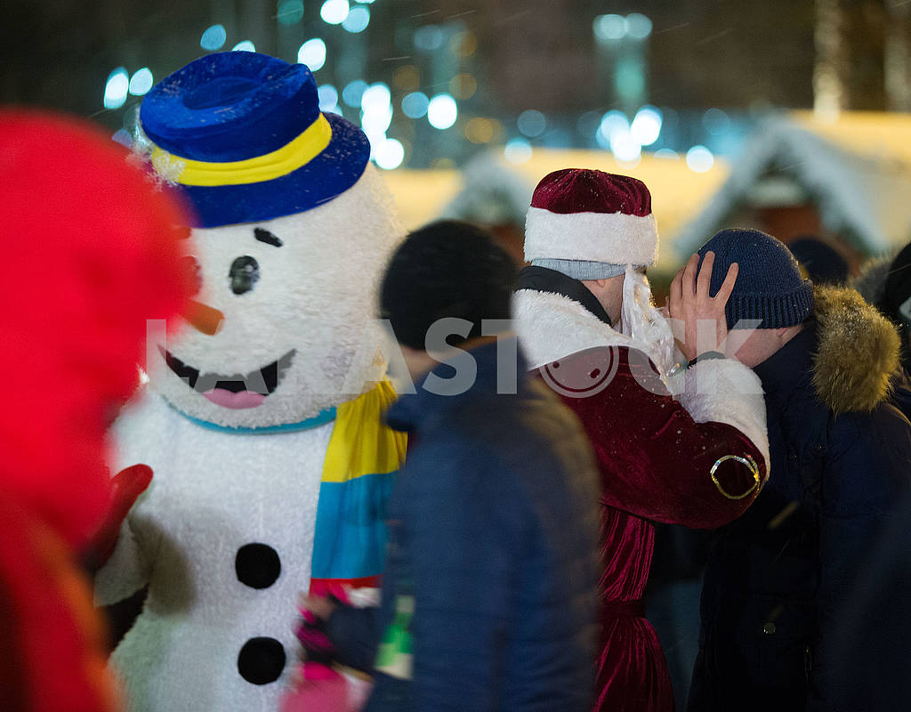 Animator in the costume of a snowman — Image 66840