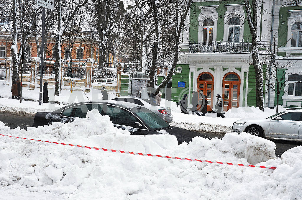 Snow in Kiev on the street. Grushevsky — Image 66852
