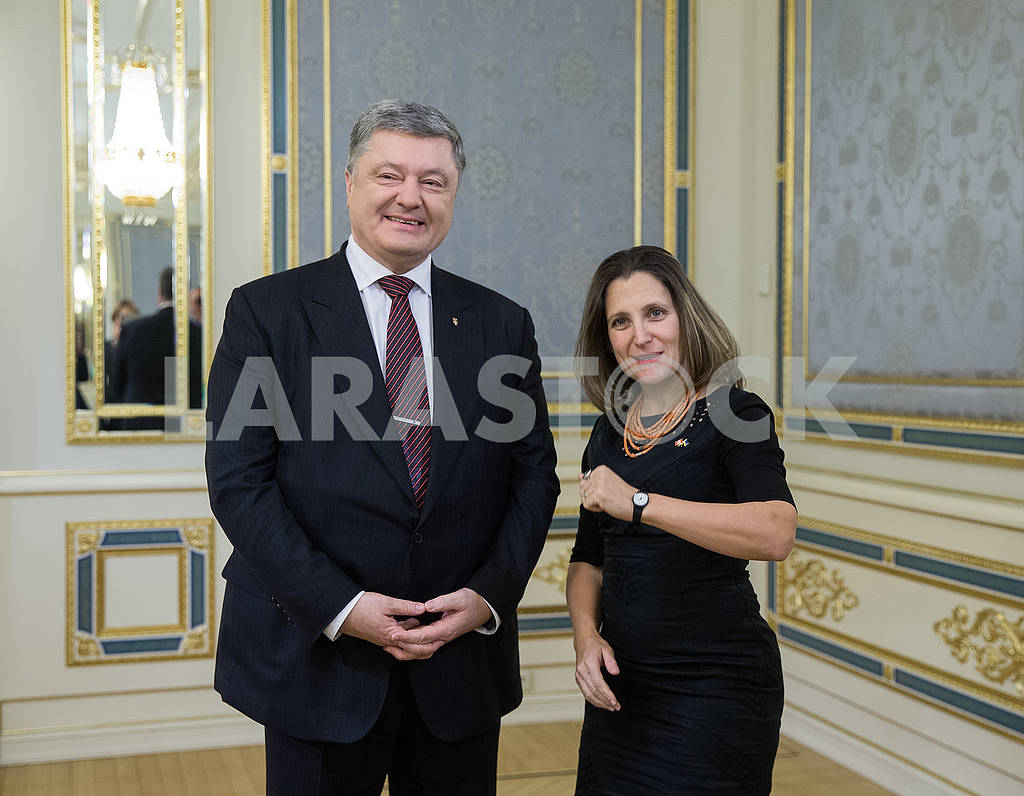 Petr Poroshenko and Christia Freeland — Image 66955