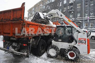 Snow removal equipment in Kiev