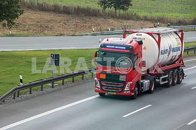 Tank truck on autobahn