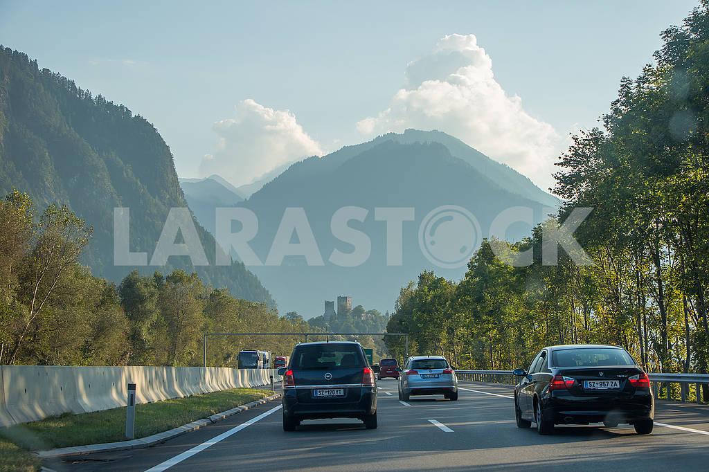 Cars on the Autobahn in Austria — Image 67042