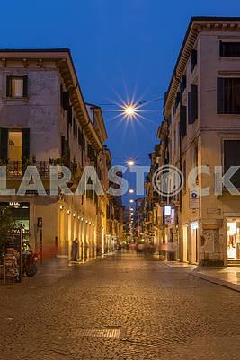 Evening street in Verona