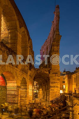 Fragment of the amphitheater in Verona