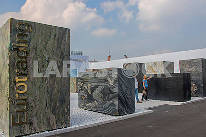 Stone blocks 3X2X1 at the exhibition