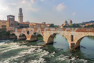 Ponte Pietra, stone bridge