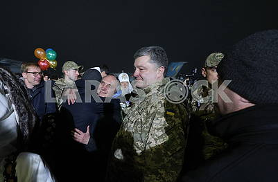 Pyotr Poroshenko's meeting with Ukrainian soldiers released from captivity