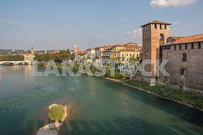 View of Castle of Castelvecchio and the Adige River