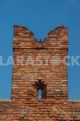 The fence of the castle fence Castelvecchio
