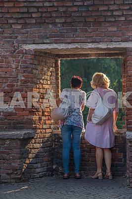 Visitors to the Museum of Castelvecchio