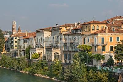 The embankment of Adige