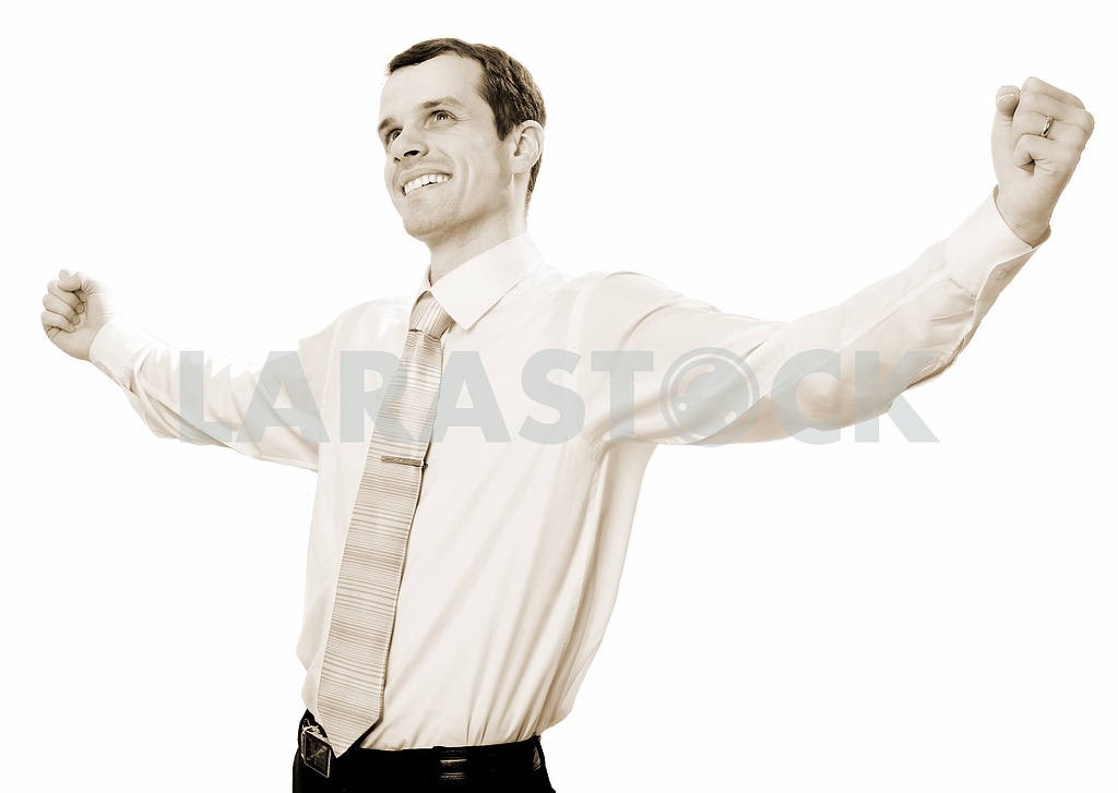 Happy businessman celebrating success. — Image 6732