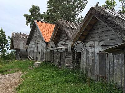 Wooden houses in the Estonian countryside