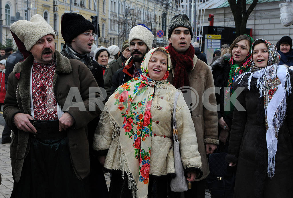 Christmas procession with stars — Image 67496