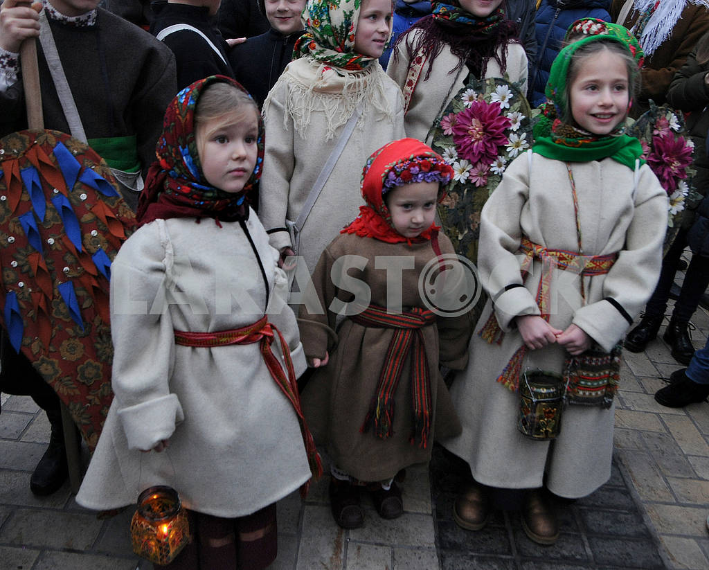 Christmas procession with stars — Image 67507
