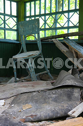 Vienna chair in an abandoned house