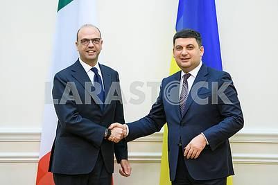 Angelino Alfano and Vladimir Groisman