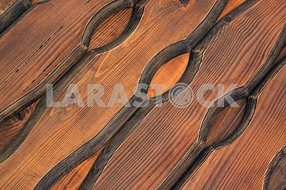 Brown colored boards of natural wood