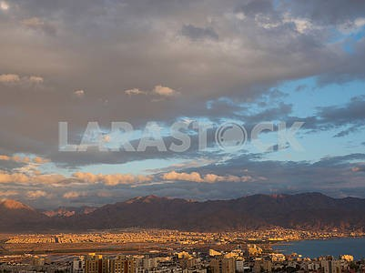 The sky over Eilat and Aqaba