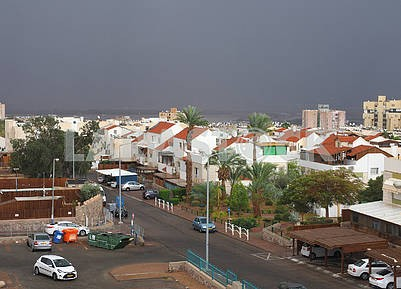 Cloudy sky in Eilat, Israel