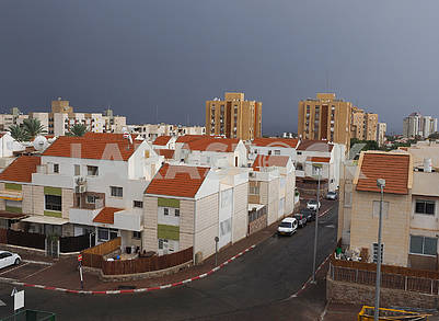 Rainy sky in Eilat, Israel