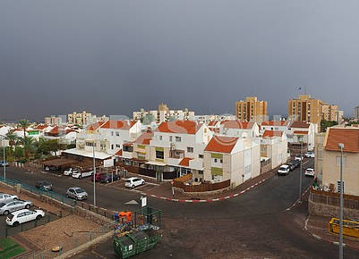 Rain cloud over Eilat, Israel