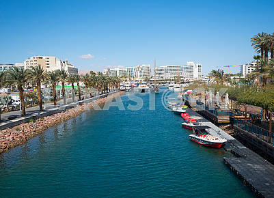 Water channel in Eilat