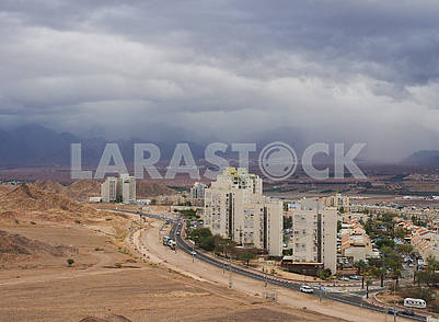 Thunderstorm over Eilat