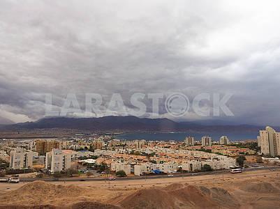 Rain over Eilat