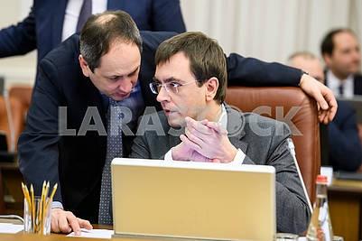 Vadim Chernysh and Vladimir Omelyan