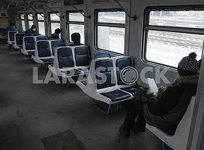 Passengers of city train