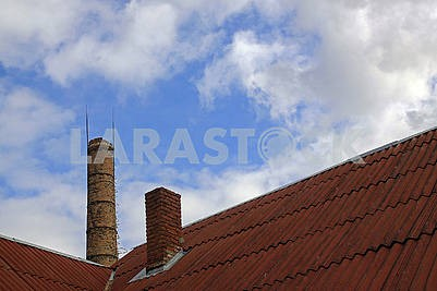Large brick chimney