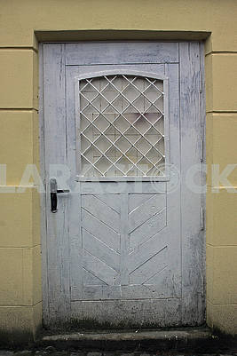 Old white dirty not tall  door