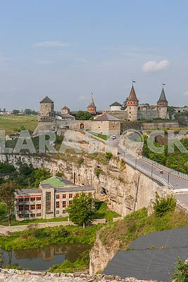 The old fortress in Kamyanets-Podilskyi