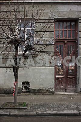 The facade of an old house