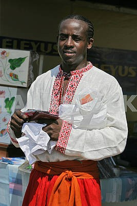 Black man in embroidery